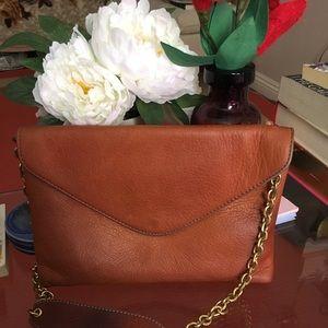 Jcrew soft leather envelope shoulder purse